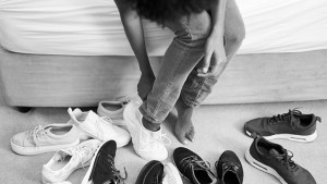 Picking shoes