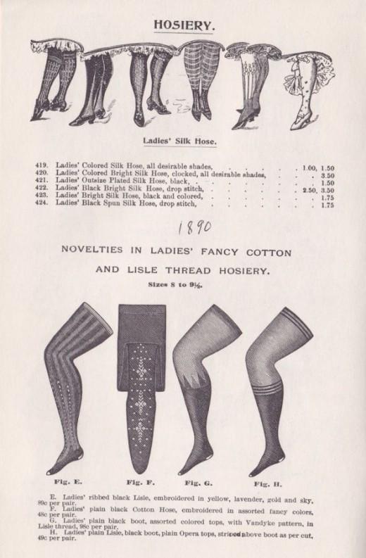 1890 stockings