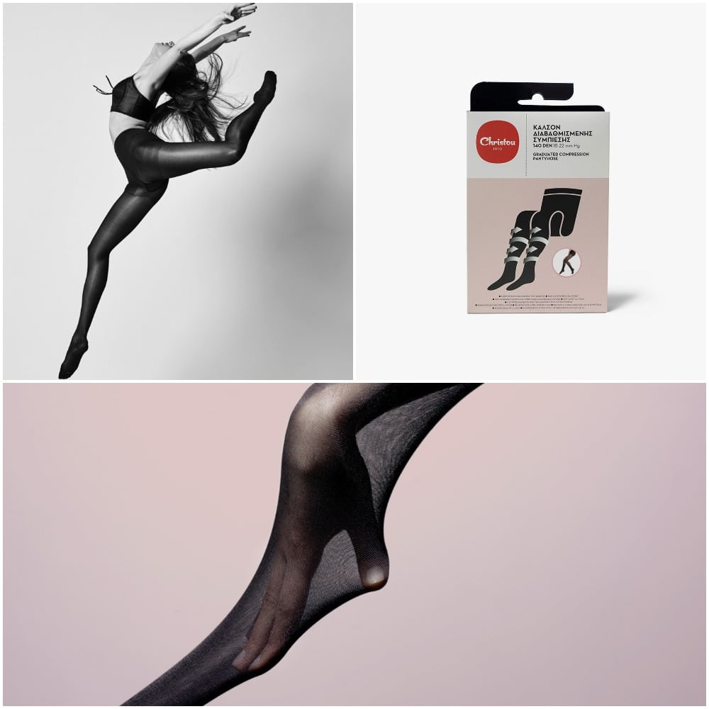 compression stockings collage