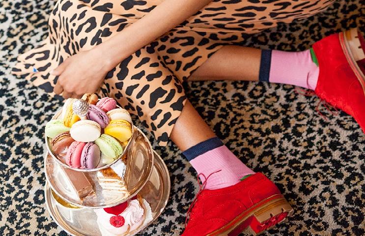 socks and macaron