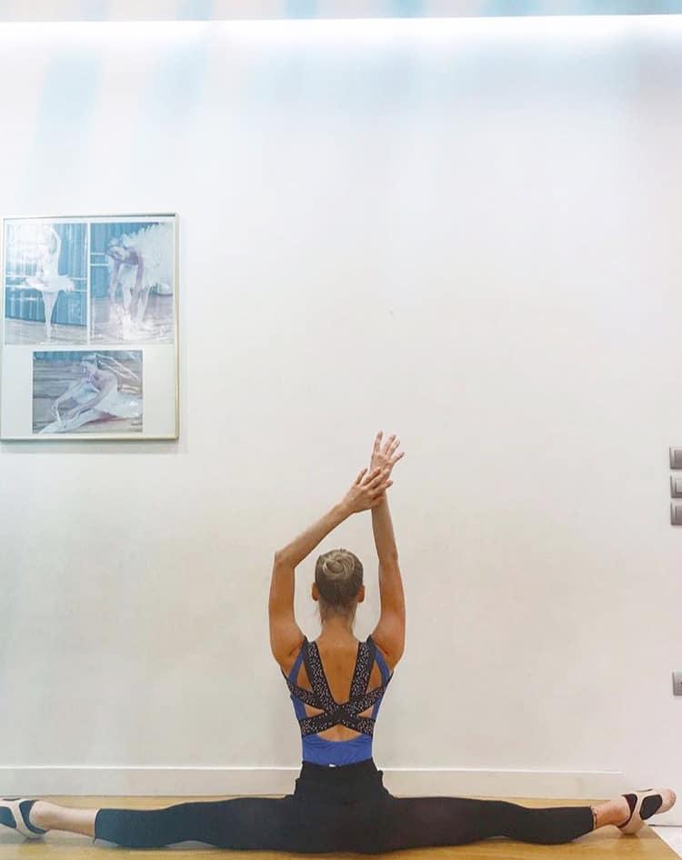 female dancer wearing posture corrector