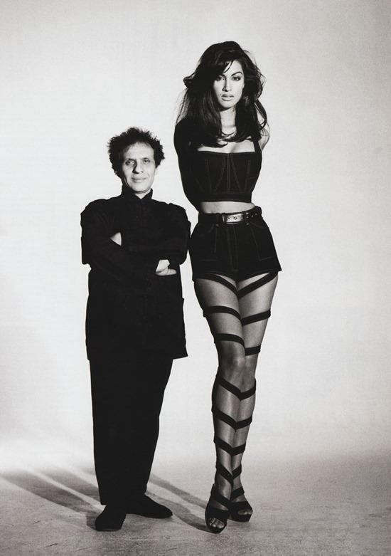 Designer and model black and white