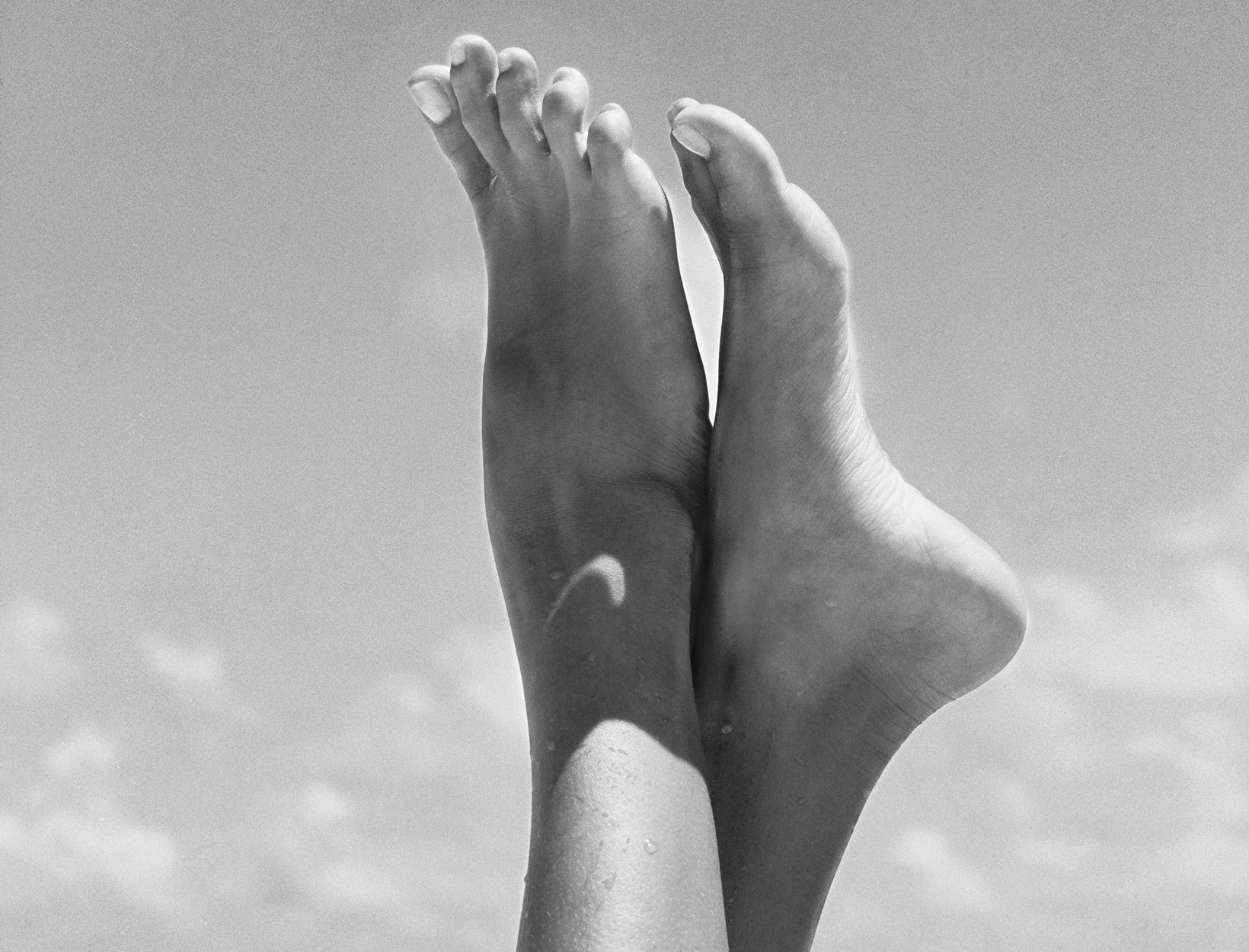 Feet black and white