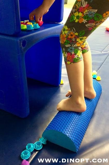 kids feet on roller