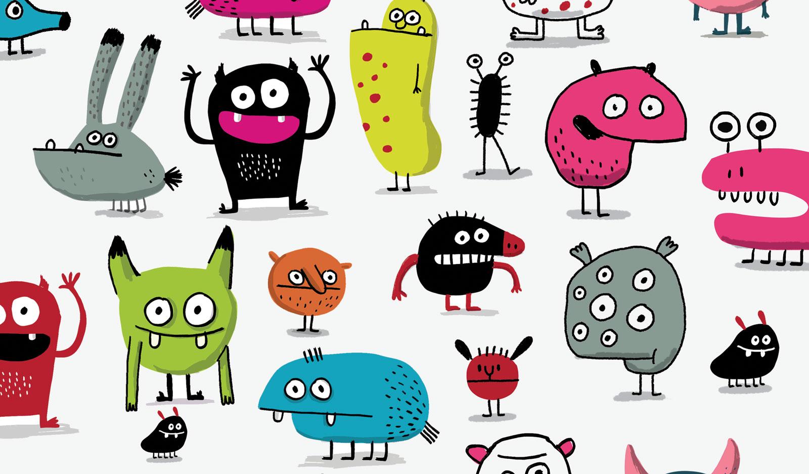 Ανατομικοί Πάτοι για Παιδιά Σειρά Monsters