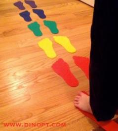 kid on footprints