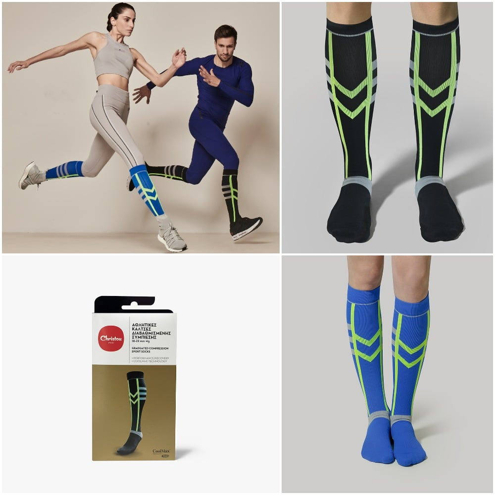 athletic compression socks collage